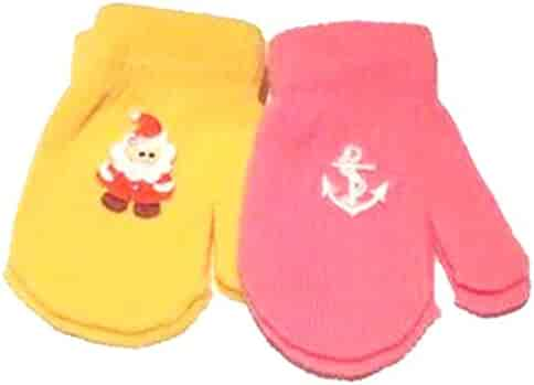 Accessories Set of Four Pairs of One Size Magic Stretch Mittens for Infants Ages 3-12 Months