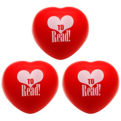 Teacher Peach Heart Stress Ball 3 Pack, Stress Relief Toys for Kids and Adults -