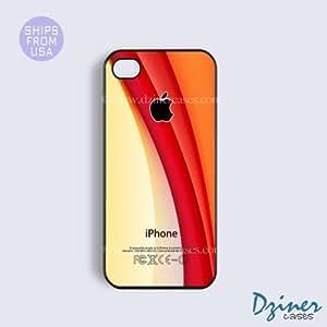 iPhone 4 4s Tough Case - Orange Design iPhone Cover