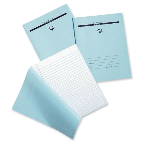 Blue Book Examination Book Margin,8-1/2'x7',16 Pages Pack Of 3