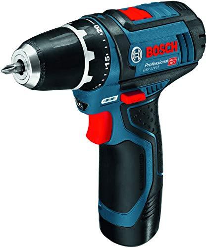 Bosch Professional Gsr 12v 15 Ystem Atornillador Incl 2 X 20 Bateria Cargador 39 Pcs Juego De Accesorios En Bolsa Amazon Edicion 12 V Azul