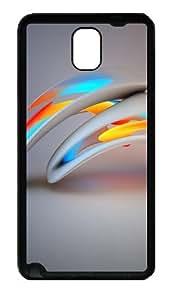 3D Abstract Design Custom Designer Samsung Galaxy Note 3 / Note III/ N9000 - TPU - Black