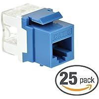 Mediabridge Cat6 Keystone Jack (Blue) - Punch-Down RJ45 Insert for Keystone Wall Plate - 25 Pack (Part# 51J-C6-BLU-25PK )