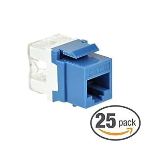 mediabridge cat6 keystone jack blue punch. Black Bedroom Furniture Sets. Home Design Ideas