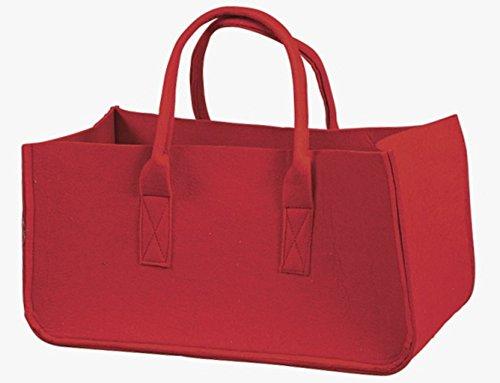 Borsa in feltro con 2 manici, colore rosso 5.