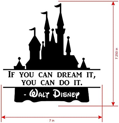 Walt Disney World Castle Quote Sticker Decal is a Famous Inspirational  Quotes Decal. Laptop Sizes 11, 12, 13 and 15 inch. Looks Great with Your  Castle ...