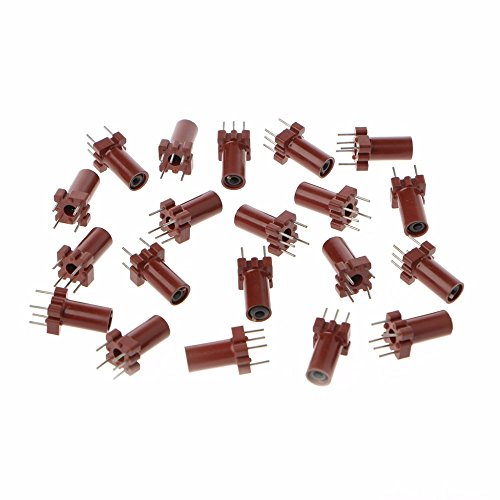 (UTL 20 Pcs Adjustable Inductor Shell Skeleton Empty Ferrite Core No Inductor Coil 25-100MHZ Inductors Integrated Circuits )