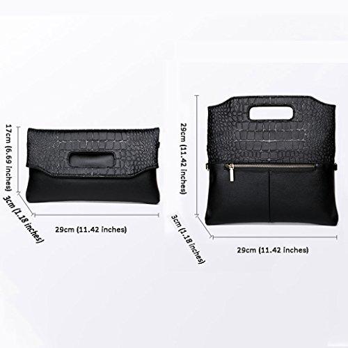 Messenger sac capacité version Black Sac de Sac féminin paquet coréenne à package à main grande paquet pliant marée l'épaule qOnvz