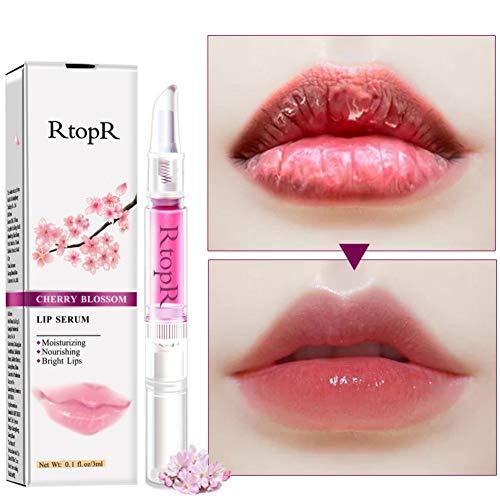 Allbestaye Lip Sleeping Mask Lippenöl Lip Serum Lippenpflegestift Feuchtigkeitsspendend Lipgloss für Trockene Lippen