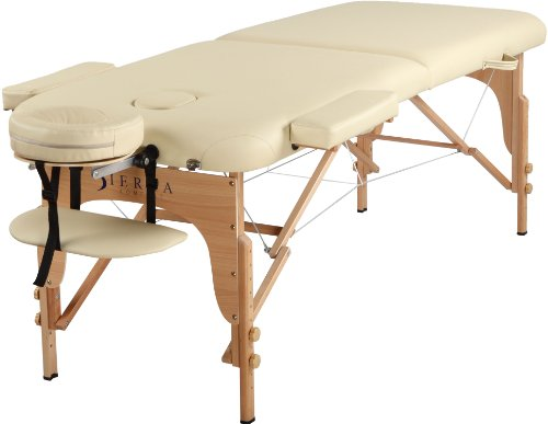 SierraComfort Relief Portable Massage Table, Cream
