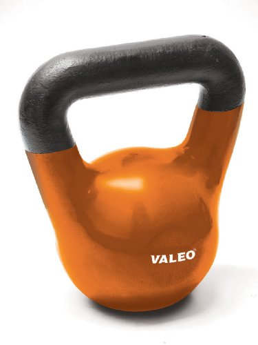 Valeo 15-Pound Kettle Bell Weight With Cast Iron Handle For Squats, Pulls and Overhead Throws To Build Strength And Endurance by Valeo