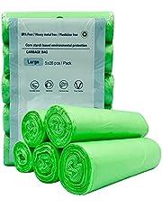 Bolsas de basura biodegradables compostables, bolsas de basura pequeñas de 4 a 6 galones, 100 unidades, respetuosas con el medio ambiente, para la cocina, el baño, la oficina, bolsas de basura para cubos de basura, resistentes y duraderas sin aroma.