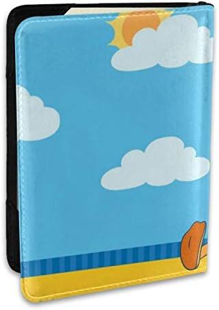 ドナルドダック パスポートケース 6.5インチ 防水 軽量 パスポートバッグ 旅行 薄型 パスポートホルダー 航空券対応 パスポートポーチ 男女兼用 PU カードケース スキミング防止 かわいい おしゃれ