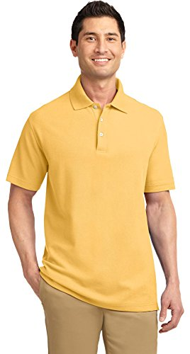 (Port Authority EZCotton Pique Polo, Maize Yellow, XX-Large)