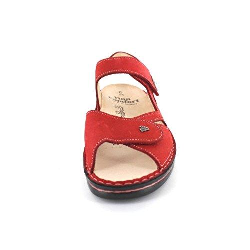 Comfort Sandali Costa Donna Finn Rosso Rot Zqd6w0n8