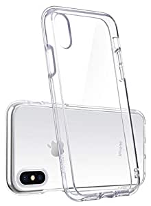 iPhone X Transparent Clear Cover Case, Clear Slim Case Silicone TPU Shock Absorbing Scratch Resistant - Clear
