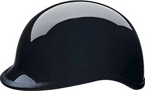 HCI Gloss Black Polo Motorcycle Half Helmet - ABS Shell 105-210 (Large)