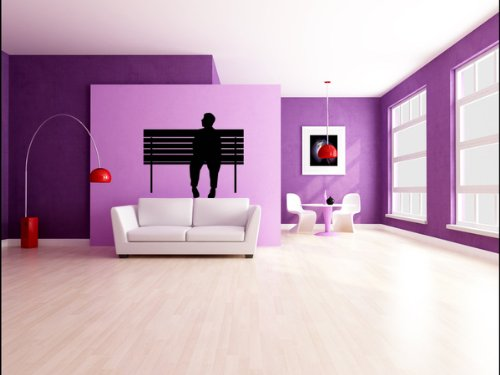 Amazon.com: People Silhouette Wall Decals - Man Sitting On Park ...