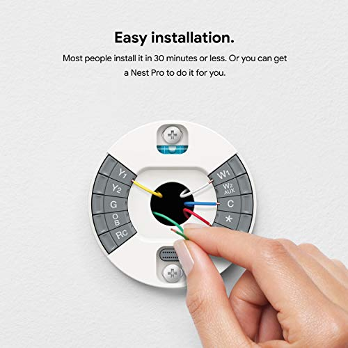 Google Nest Learning Thermostat - Programmable Smart Thermostat for Home - 3rd Generation Nest Thermostat - Works with…