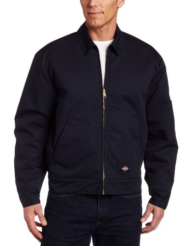 Dickies Men's Big-Tall Lined Eisenhower Jacket, Dark Navy, 6X Regular