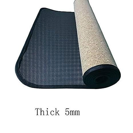 Tapete de yoga de corcho natural cubierto de bordes ...