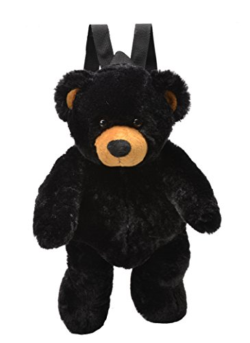 Plush Black Bear Backpack - 16 Inch -