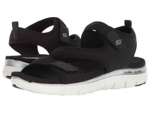 すり達成する組み合わせるSKECHERS(スケッチャーズ) レディース 女性用 シューズ 靴 サンダル Flex Appeal 2.0 ? Summer Patrol - Black [並行輸入品]