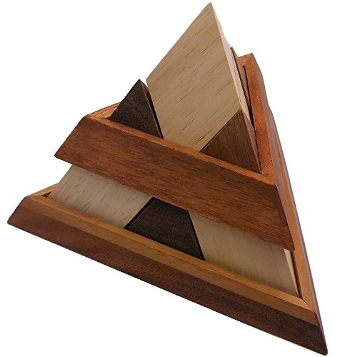 (Luxor Pyramid Wooden Puzzle Brain Teaser)