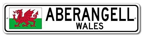 "The Lizton Sign Shop Aberangell, Wales Aluminum Welsh Flag Sign, Wales Custom Flag Sign - 4""x18"""