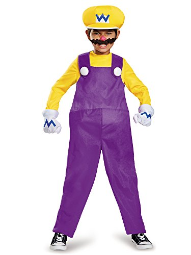 Wario Deluxe Super Mario Bros. Nintendo Costume, Medium/7-8 -