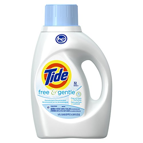 Tide Free and Gentle High Efficiency Liquid Laundry Detergent, 50 oz, 32 loads