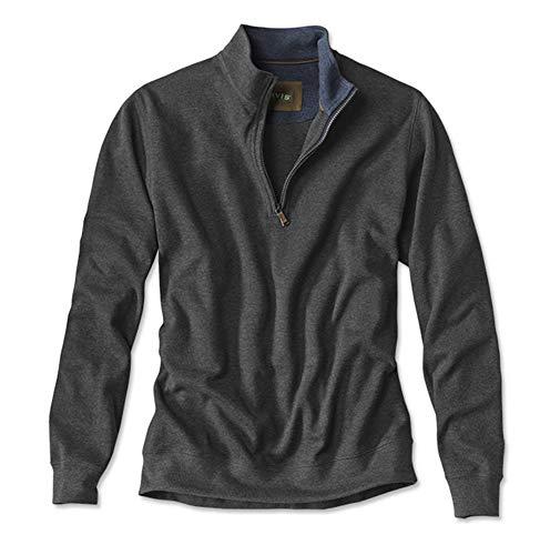 Orvis Men's Pima Pique Sweatshirt/Pima Pique Sweatshirt, Charcoal, Xx ()