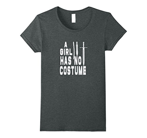 Womens A Girl Has No Costume Halloween T-Shirt XL Dark Heather (Rock Of Love Girl Halloween Costume)