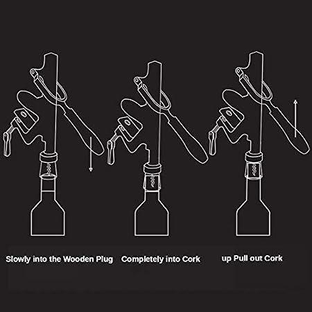 Abridor de vino Sacacorchos Abridor de botellas de escritorio fijo Abridor de botellas multifunción Accesorios de cocina Herramientas de restaurante