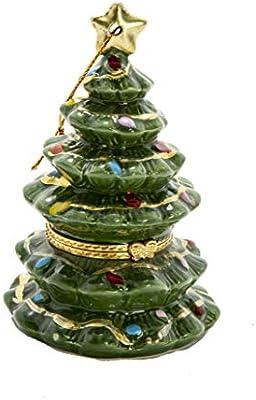 ReLive - Caja de Tesoro con bisagras para árbol de Navidad (cerámica, 10,16 cm): Amazon.es: Hogar