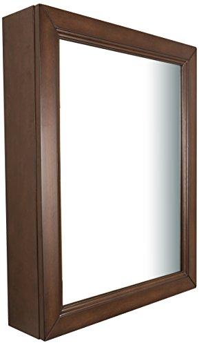 Bellaterra Home 7611-MC-SW Mirror Cabinet, Wood, 24-Inch, Sable Walnut