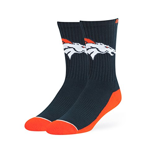 NFL Denver Broncos OTS Anthem Sport Sock, Navy, Large