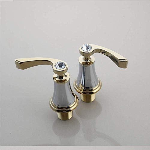 Yadianna 蛇口マットブラック3個浴室の蛇口デッキはブラック2つのハンドルダイヤモンドバスルームバスタブ流域ミキサータップ蛇口絵画マウント