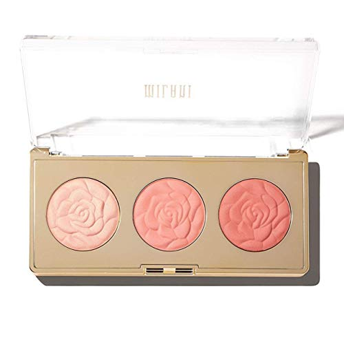 Milani Rose Blush Trio Palette - Flowers Of Love (0.42 Ounce) Vegan, Cruelty-Free Powder Blush Palette that Shapes, Contours and Highlights Face with Matte & Shimmery Color