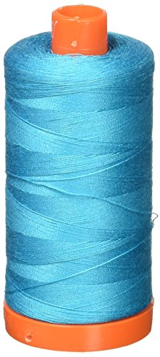 (Aurifil Mako Cotton Thread Solid 50wt 1422yds Turquoise)