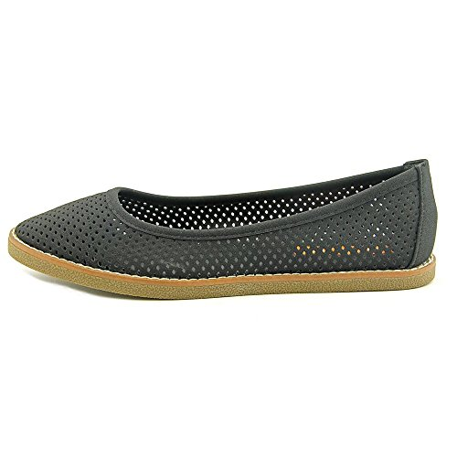 Rocket Dog Womens Kaira Perforated Slip On Ballet Flats Black Francois NVcfoparn