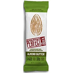 PERFECT FOODS Bar, Almond Butter, 2.29 Ounce (Pack of 8)