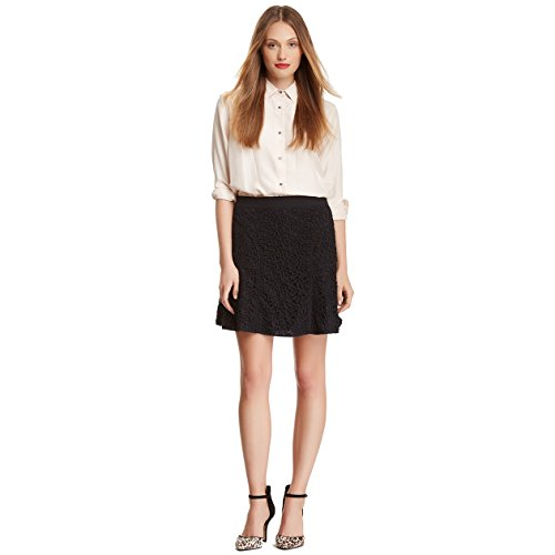 Rebecca Taylor Womens Lace Skirt Black 8 - Rebecca Taylor Silk Skirt