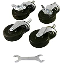 Origami Part-Rack-HWheel Heavy-Duty Wheels for Origami Shelves, 3-Inch, Set of 4, Black