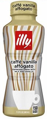 Illy Issimo Caffe Vanilla Affogato Coffee Drink 11.5 Oz Bottles - Pack of 12
