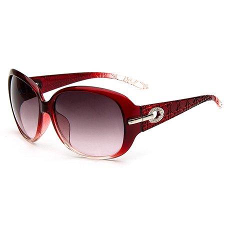 GGSSYY Uv sol nbsp; Sun Rhinestone Gafas Gafas Burgundy de Glasses de nbsp; Ladies Mujer nbsp;Elegant Mujer sol Borgoña 6wq6HIr