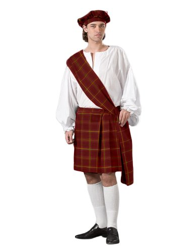 [Men's Deluxe Highlander Theater Quality Costume, Green, XXLarge] (Braveheart Fancy Dress Costume)