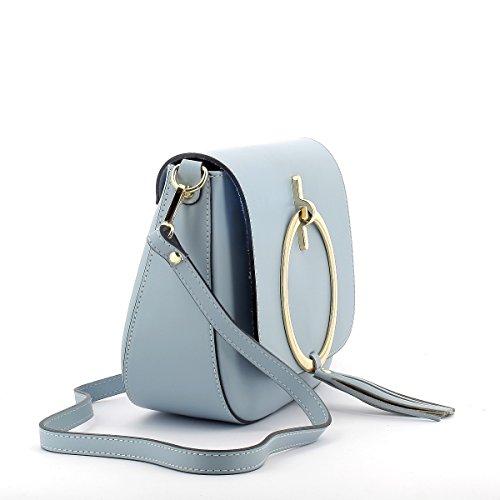 SEREBAGS , Damen Schultertasche blau türkis
