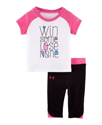 Under Armour Baby Girls' Win Some Lose None Capri Set, Chaos, 12 Months