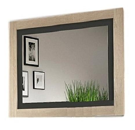 Studio Decor Lara Espejo de Pared, Melanina, Cambrian y Blanco, 90 x 75 x 3,5 cm
